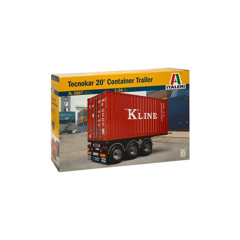 maquette camion italeri 1 24 3887 semi remorque container 20 pieds. Black Bedroom Furniture Sets. Home Design Ideas