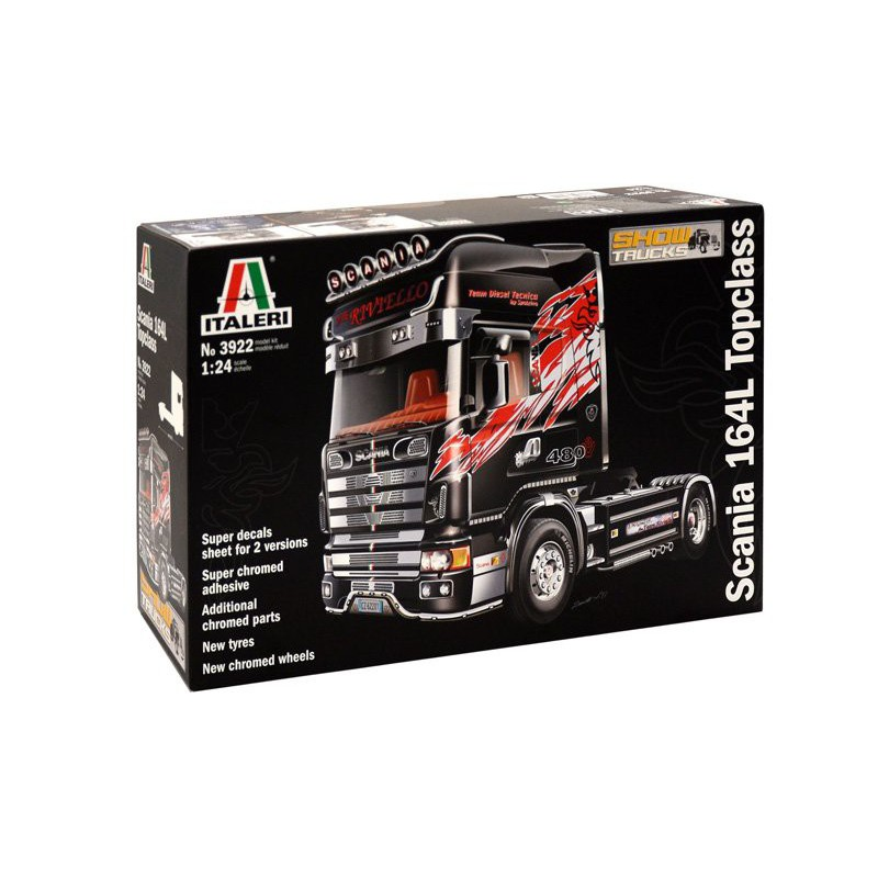 maquette camion italeri 1  24 3922 scania 164l topclass