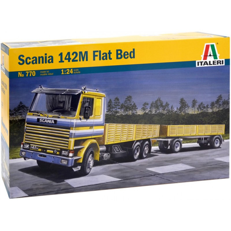 maquette camion italeri 1 24 770 scania 142m flat bed. Black Bedroom Furniture Sets. Home Design Ideas