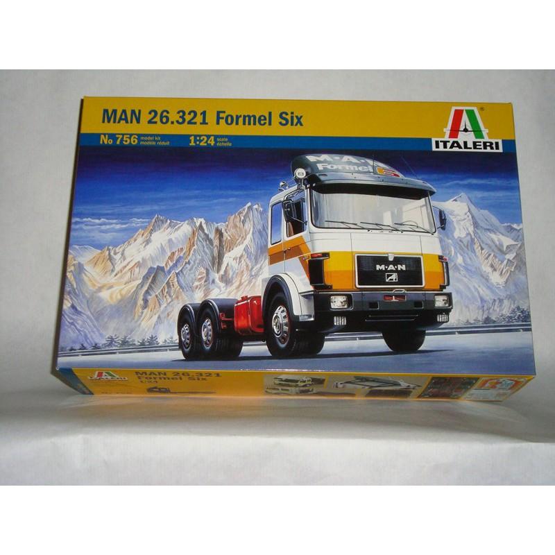 maquette camion italeri 1 24 756 man formel six 26 321. Black Bedroom Furniture Sets. Home Design Ideas