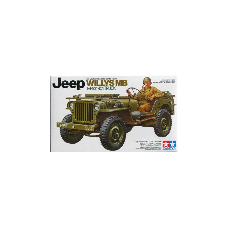 maquette militaire tamiya 1 35 jeep willys mb 35219. Black Bedroom Furniture Sets. Home Design Ideas