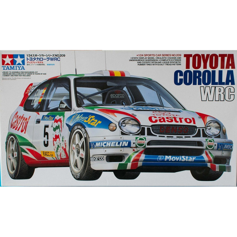 maquette voiture tamiya 1 24 corolla wrc 24209. Black Bedroom Furniture Sets. Home Design Ideas